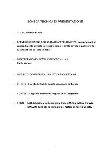IL DIRITTO DI VOTO.pdf - Italiano per lo studio