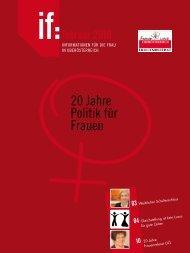 if 1/2010 - 20 Jahre Politik für Frauen - Frauenreferat