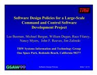 Software Design Policies for a Large-Scale Command and Control ...