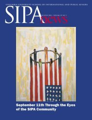 SIPA News Winter 2002 - School of International and Public Affairs ...