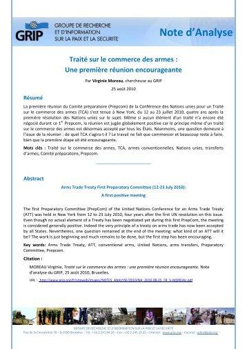 Traité sur le commerce des armes - Grip