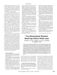 Two-Dimensional Photonic Band-Gap Defect Mode Laser - Painter ...