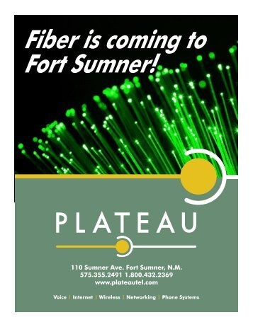 Fiber Is Coming To Fort Sumner! - Plateau