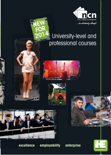 University-level and professional courses - New College Nottingham