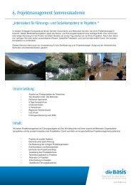 Seminarbroschüre zum Downloaden - die Basis