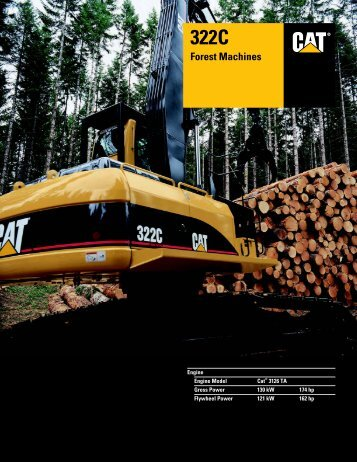 Specalog for 322C Forest Machines, AEHQ5442 - Kelly Tractor