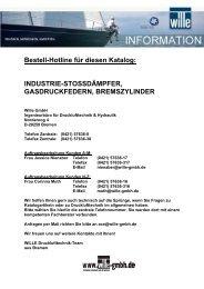 Bestell-Hotline für diesen Katalog: INDUSTRIE ... - Wille GmbH