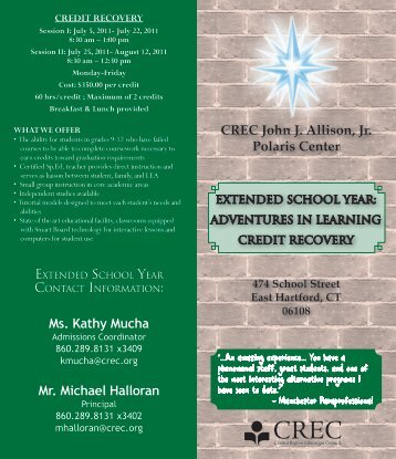 to view Adventures in Learning and Credit Recovery brochure