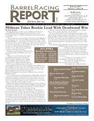 stevi hillman - Barrel Racing Report