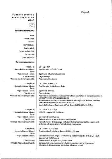 Formato Europeo Per Il Curriculum Vitae Asl Sa 3