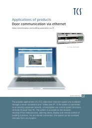 Applications of products Door communication via ethernet