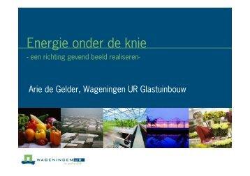 Energie onder de knie - Energiek2020