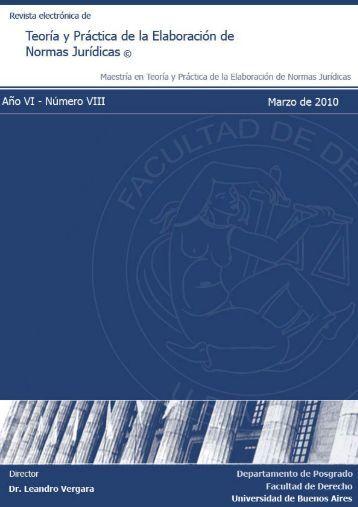 Año V - Número VII - Marzo 2010 - Facultad de Derecho ...