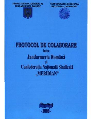 Protocol de colaborare intre Jandarmeria Romana si CSN MERIDIAN