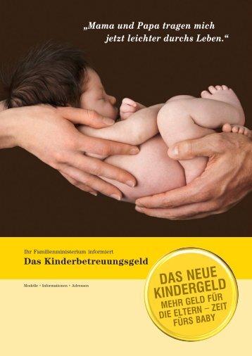das neue Kindergeld - Geburtsallianz Österreich