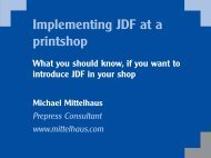 How to implement JDF in a prinshop - Mittelhaus