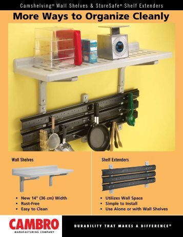 More Ways to Organize Cleanly - Cambro
