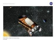 Kepler Mission : A Search for Habitable Planets - Kepler - NASA
