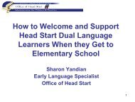 How to Welcome and Support Head Start Dual Language ... - NCELA