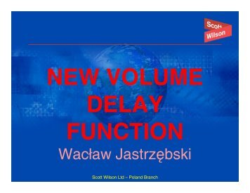 new volume delay function - Inro