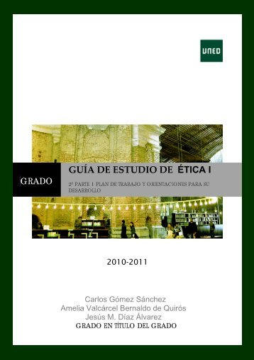 Guía de estudio de Ética I