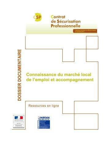 DOSSIER DOCUMENTAIRE Connaissance du ... - Emploi.gouv.fr