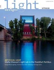 artificial light Olafur Eliasson's Light Lab in the Frankfurt Portikus