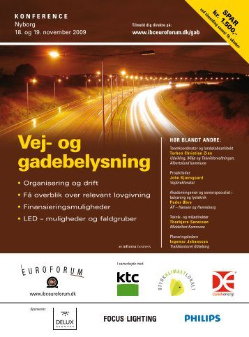 Vej- og gadebelysning - IBC Euroforum