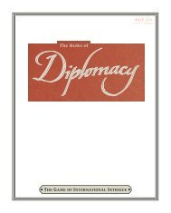 Diplomacy Rulebook - Wizards of the Coast