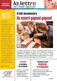 Lettre Entreprises n° 2-2005 - Crédit Agricole Loire Haute Loire
