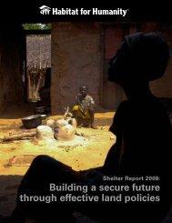 2008 Shelter Report - Habitat for Humanity