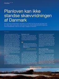 planloven kan ikke standse skævvridningen af danmark - KTC