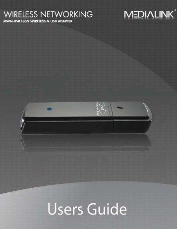 Wireless N USB Adapter - User Guide - Mediabridge Products