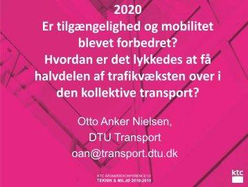 Andel med kollektiv transport i - KTC
