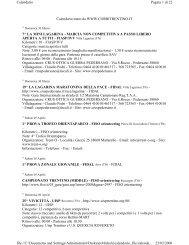Calendario tratto da WWW.CORRITRENTINO.IT 7^ LA MINI ...