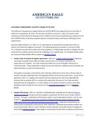 CA Supply Chains Act - American Eagle Outfitters