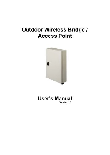 Outdoor Wireless Bridge / Access Point - wistec.co.za