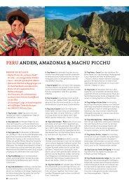 Peru anden, amazonaS & machu Picchu - SKR Reisen