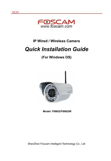 IP Wired / Wireless Camera Quick Installation Guide (For Windows OS)