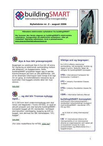 Nyhetsbrevet for august 2006 - buildingSMART