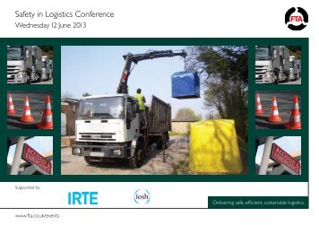 Safety in Logistics Conference - Freight Transport Association