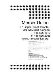 Mercer Union (Toronto, Canada) - Sparwasser HQ
