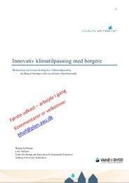 Innovativ klimatilpasning med borgere - Vand i Byer