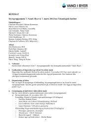 Referat af 7. styregruppemøde den 07.03.12 - Vand i Byer
