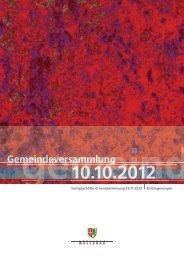 Botschaft zur Gemeindeversammlung vom 10. Oktober 2012 (PDF ...