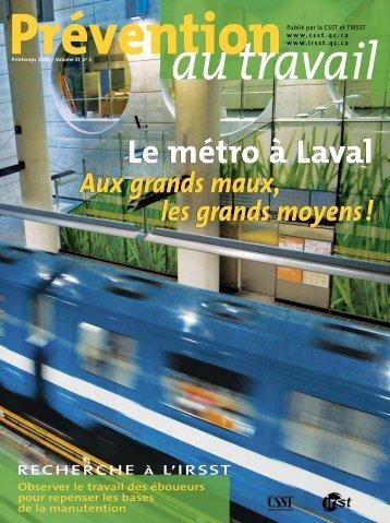 Le métro à Laval - CSST