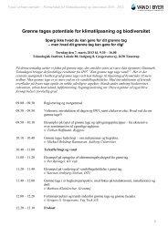 Program for stormøde den 7. marts 2013 - Vand i Byer