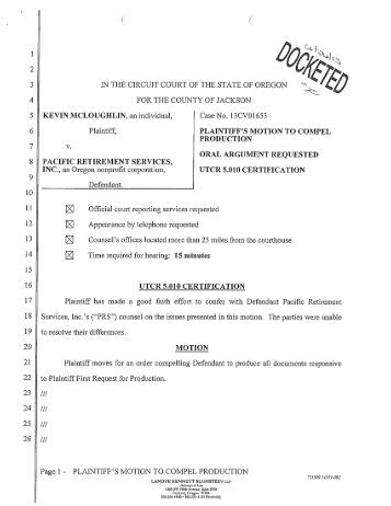motion to compel If it is a motion to compel documents, rogs or rfas, it matters because there is a time limit to bring these motions and filing a new motion may make it untimely if it is a bop, there is no time limit to bring the motion so it really doesn't matter whether the court allows you to amend the notice (except that you will have to pay a new filing.