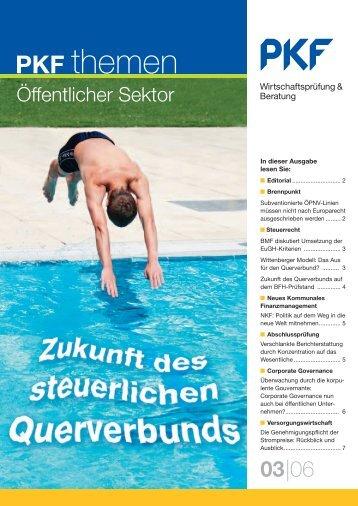 Heft 3 11/2006 Zukunft des steuerlichen Querverbunds - PKF