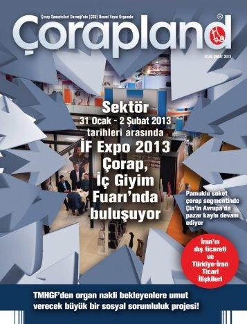 48. Sayı Ocak - Şubat 2013 - Çorap Sanayicileri Derneği